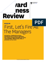 First, let's fire all the managers - Harward Business Review