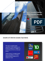 The Top 6 Canadian Banks - Selected Indicators of FY 2013 Results - DPershad