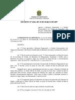 decreto-6061-15-marco-2007 funções gratificadas ministério da justiça