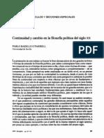 Continuidad y cambio en la filosofía política del siglo XX
