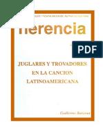 Barzuna, Guillermo - Juglares y trovadores en la canción latinoamericana