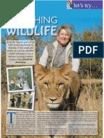 The Travel & Leisure Magazine Watching Wildlife Feature