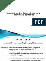 Investitiile Straine Directe - Prezentare Power Point