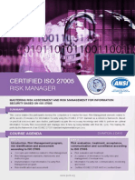 ISO 27005 Risk Manager - Four Page Brochure