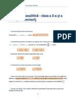 Geometrie Analitica x Xi Fara Vectori