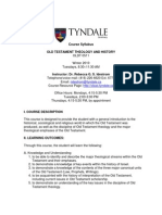 Syllabi - Old Testament Theology and History