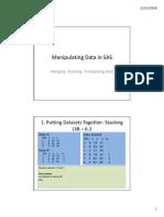 Manipulating Data in SAS