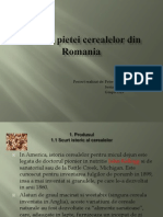 Analiza Pietei Cerealelor Din Romania