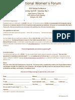 2014 Registration Form