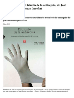 Arnoldo Kraus. El triunfo de la antisepsia, de José Antonio López Cerezo (reseña)