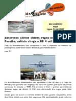Empresas aéreas abrem vagas no Brasil e na Paraíba; salário chega a R$ 4 mil