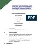 USA Niagara Development Corp. agenda - Dec. 16, 2013