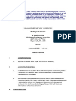 USA Niagara Development Corp. agenda - Dec. 16, 2013