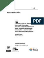el impacto del  desplazamiento-colombia2008-cepal