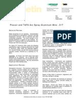Tafa Arc Spray Wire 1.9.1.2-01T - Aluminum Wire 01T