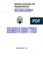 Reglamento Grados y Titulos Actual Vigente UNH 2010