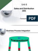 SAP -SD Transactions