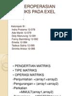 Matriks Pada Exel