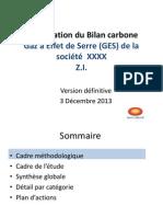 Bilan carbone  presentation résultat définitif