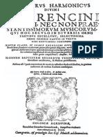 JB Besard Thesaurus Harmonicus 1603