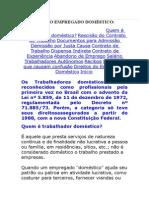 CARTILHA DO EMPREGADO DOMÉSTICO
