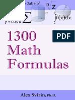 1300 FÓRMULAS MATEMÁTICAS