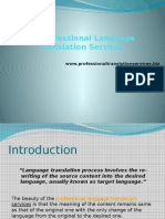 Professional Language Translation Services