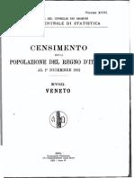 ISTAT - Censimento 1921 Veneto e Friuli Venezia Giulia