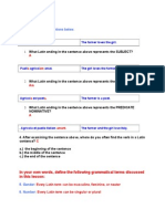 Latin 1 Module 1 Lesson 7