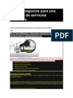 Plan de negocios para una empresa de servicios eléctricos