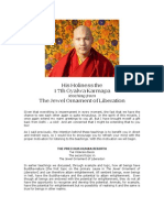 His Holiness the 17th Gyalwa Karmapa Teaching From the Jewel Ornament of Liberation
