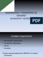 Respiracion y Transporte de Oxigeno