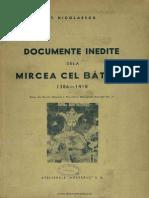 Documente inedite de la Mircea cel Bătrân - 1386-1418