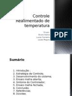 Controle Realimentado de Temperatura
