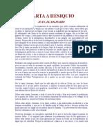Juan El Solitario - Carta a Hesiquio