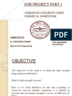 High Strength Concrete Using Chemical Admixture