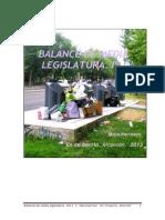 BALANCE DE MEDIA LEGISLATURA Iª