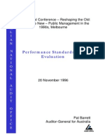 Barrett (1996) Performance Standards and Evaluation