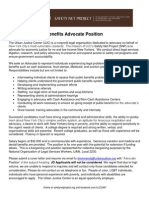 Benefits Advocate Position - December '13