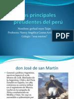 Los principales presidentes del perú
