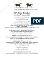 Canterbury Horse and Pony Breeders Society Inhand Show February 2014