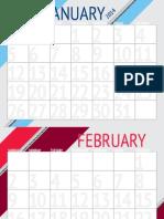 2014 printable downloadable calendar