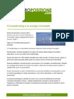 Il Crowdfunding e le energie rinnovabili