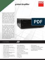Data Sheet - C 375BEE Integrated Amplifier