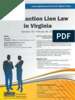 2-28-14 Lien Law Seminar Announcement