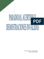 Paradojas Acertijos y Demostraciones Invalidas