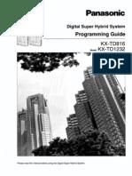 KX-TD1232 Programming Manual