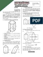 2-Apostila de Geometria Espacial (3º Anos, 13 páginas, 75 questões)