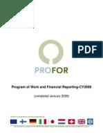 PROFOR Progress Report 2008