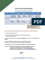 Información curso enero
